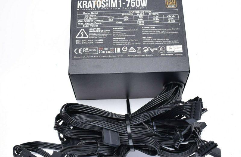 GAMDIAS Kratos M1-750B 750W 80 Plus Bronze Certified ATX12V v2.2 Power Supply