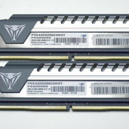 Patriot PVE432G266C6KGY Viper Elite 32GB 2666 MHz DDR4 RAM Dual Kit – Black/Grey