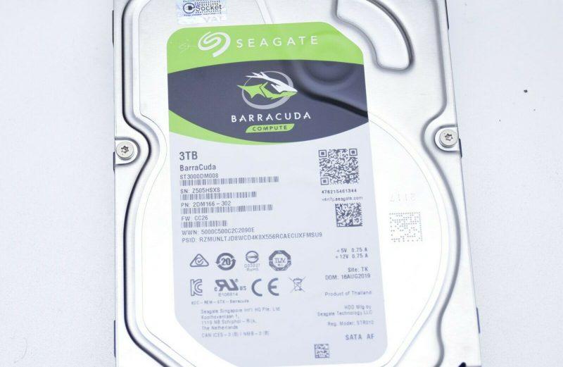 """Seagate ST3000DM008 BarraCuda 3.5"""" HDD SATA 3TB 7200rpm 64MB Cache"""