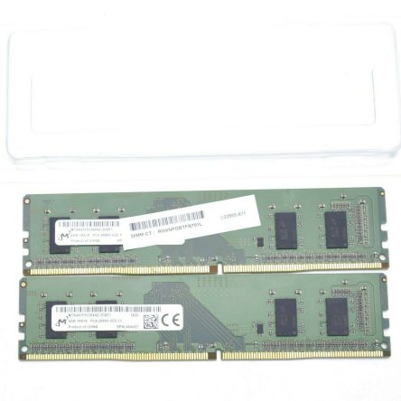 Micron 8 GB (2 x 4GB) PC Desktop RAM 1Rx16 PC4-2666V-UC0-11 DDR4 Memory
